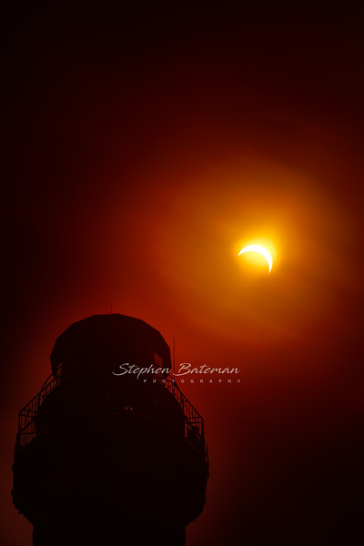 Solar Eclipse over Cape May Light house