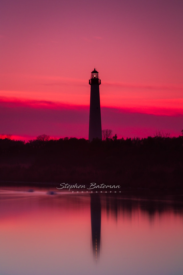 Red Sunset at Lighthouse