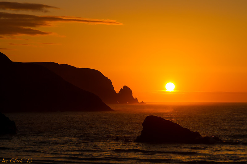 Sunset from Kearvaig Bay