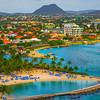 The Inlet Coming Into Aruba With Resorts - Aruba, Caribbean Islands