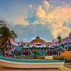 The Town Of Aruba From The Beach - Aruba, Caribbean Islands