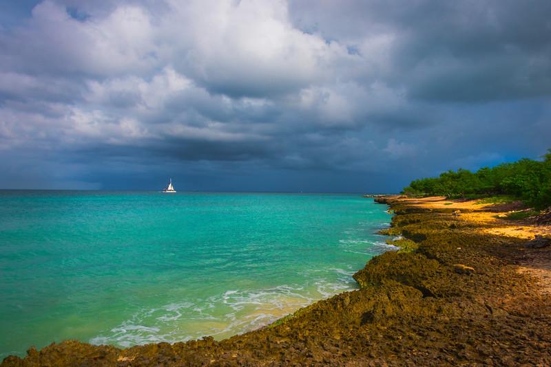 The Rocky Beachline Of Aruba - Aruba, Caribbean Islands