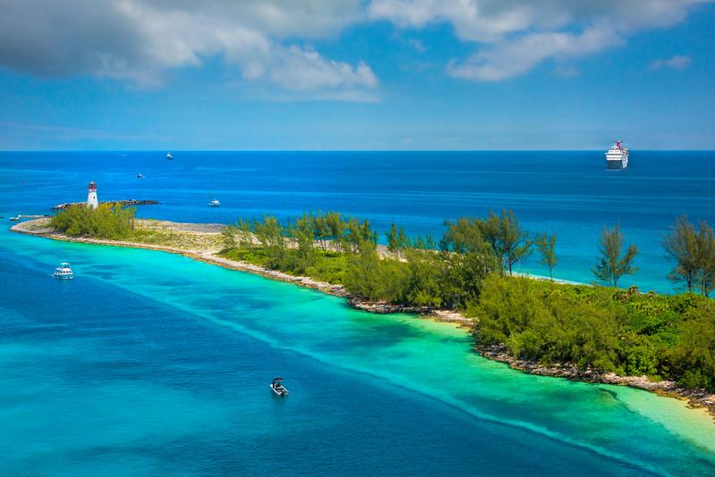 Cruise Ships Coming Into Nassau - Nassau, Bahamas, Caribbean