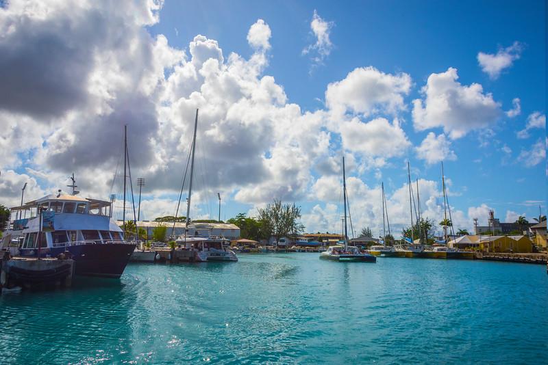 Early Morning In Bridgetown Harbor Bridgetown, Barbados, Caribbean Islands