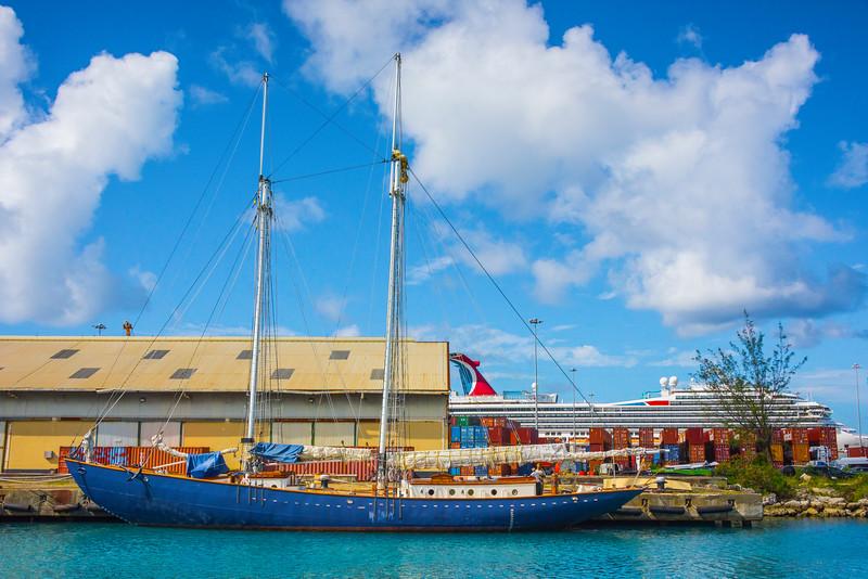 In The Bridgetwom Harbor Bridgetown, Barbados, Caribbean Islands