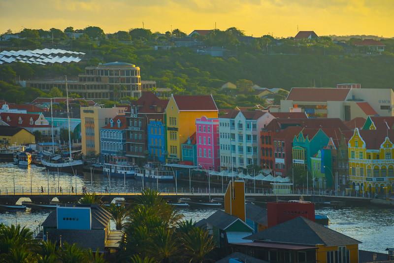 Downtown Curacao In Sunrise Light - Curacao, Caribbean Islands