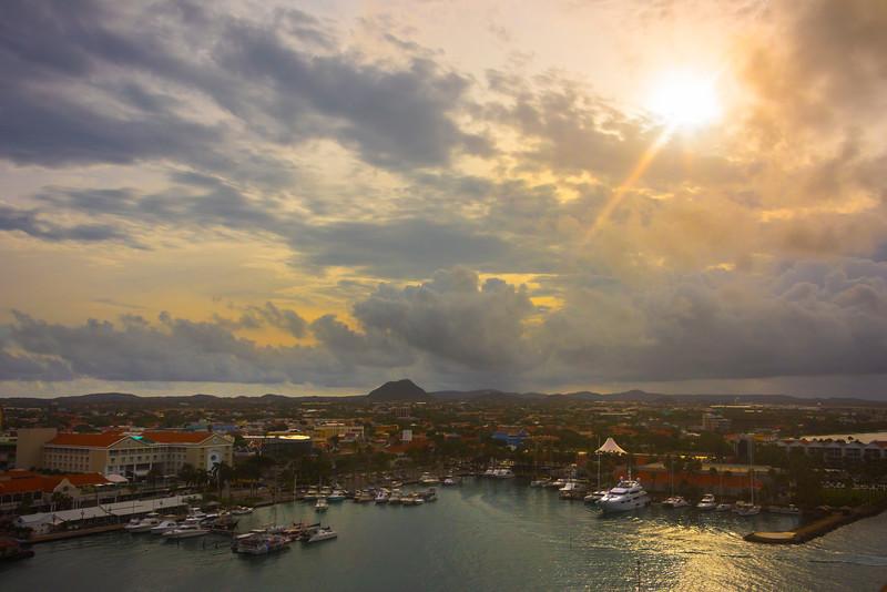 Aruba In First Morning Light - Aruba, Caribbean Islands