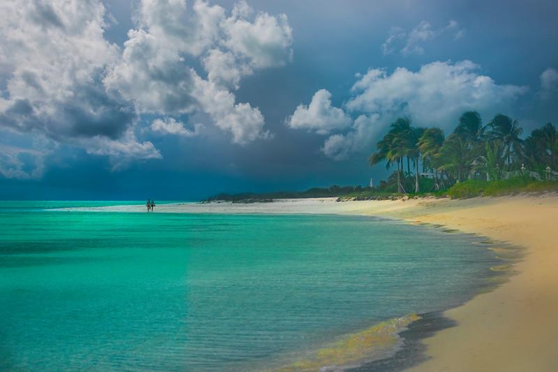 Walk On The Beach - Grace Bay, Providenciales, Turks & Caicos, Caribbean