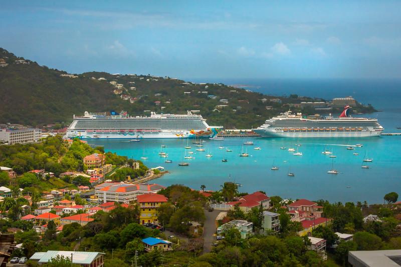 St Thomas Harbour With Cruise Ships -  Charlotte Amalie , St. Thomas, US Virgin Islands
