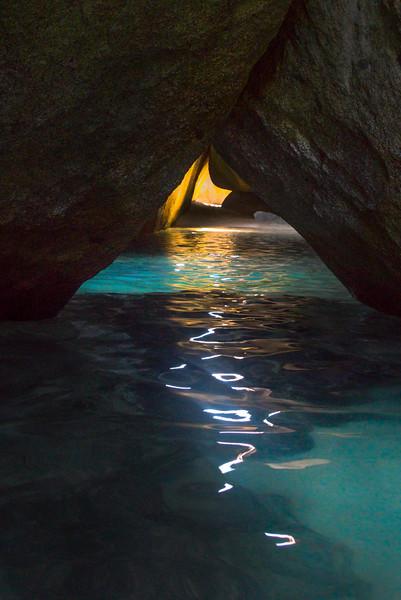 Light Sliver In The Bath Caves - The Baths, Virgin Gorda, British Virgin Islands, Caribbean