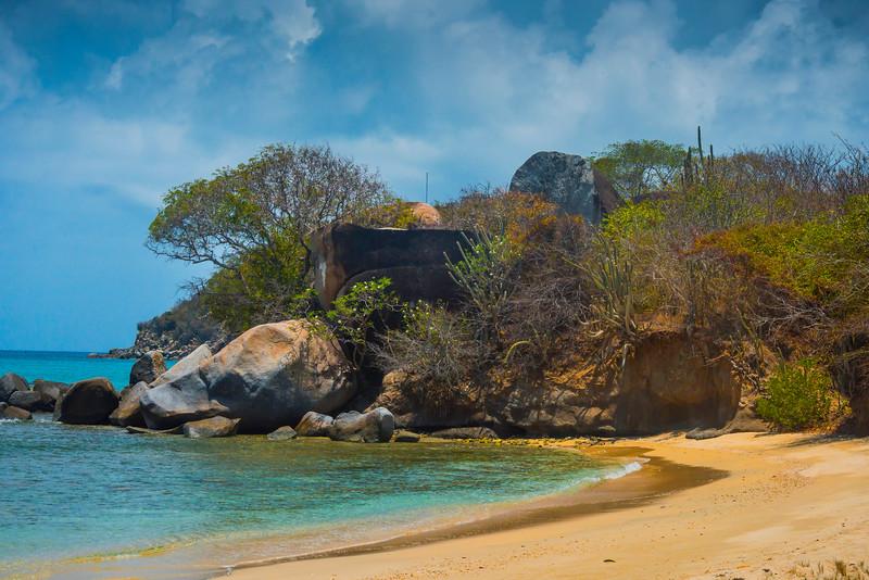 A Caribbean Cove Of Color And Foliage - Virgin Gorda, British Virgin Islands, Caribbean