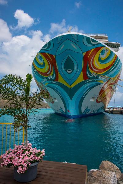 Cruise Ship In Tortola Port