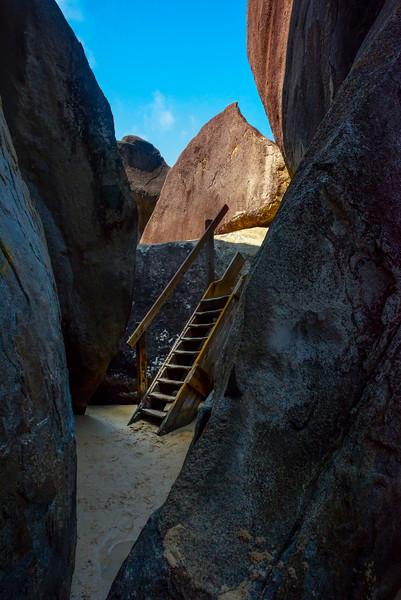Stairway To Heaven - The Baths, Virgin Gorda, British Virgin Islands, Caribbean