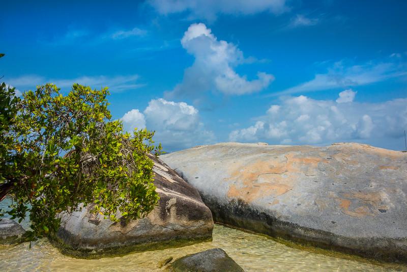 Tropical Blues Of The Baths - The Baths, Virgin Gorda, British Virgin Islands, Caribbean