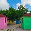 Color Huts Near The Beach In Curacao - Curacao, Caribbean Islands