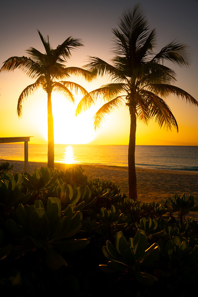 Sunset Warmth Over Grace Bay