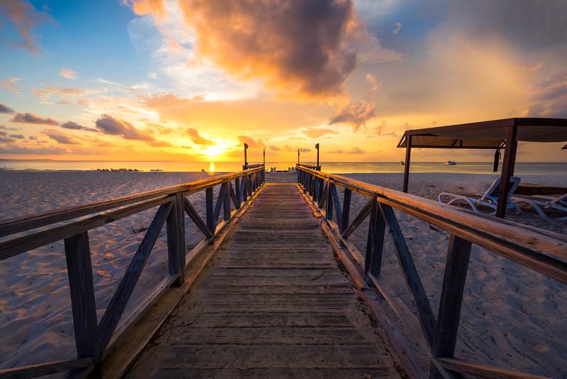 Boardwalk Sunset FireAt Grace Bay - Grace Bay, Providenciales, Turks & Caicos, Caribbean
