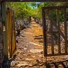 The Entrance To Wades Plantation - North Caicos, Turks & Caicos, Caribbean