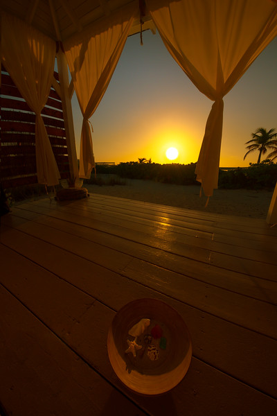 Sunset Inside The Massage Hut