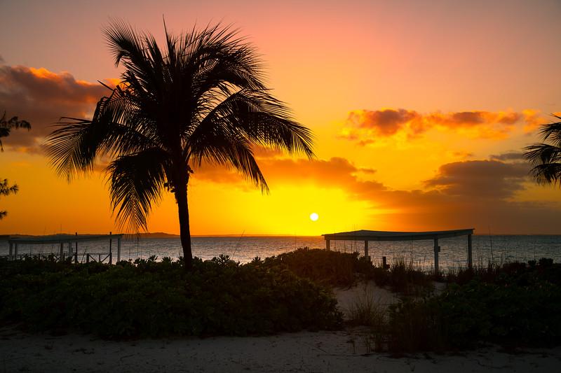 A Golden Sunset On Grace Bay