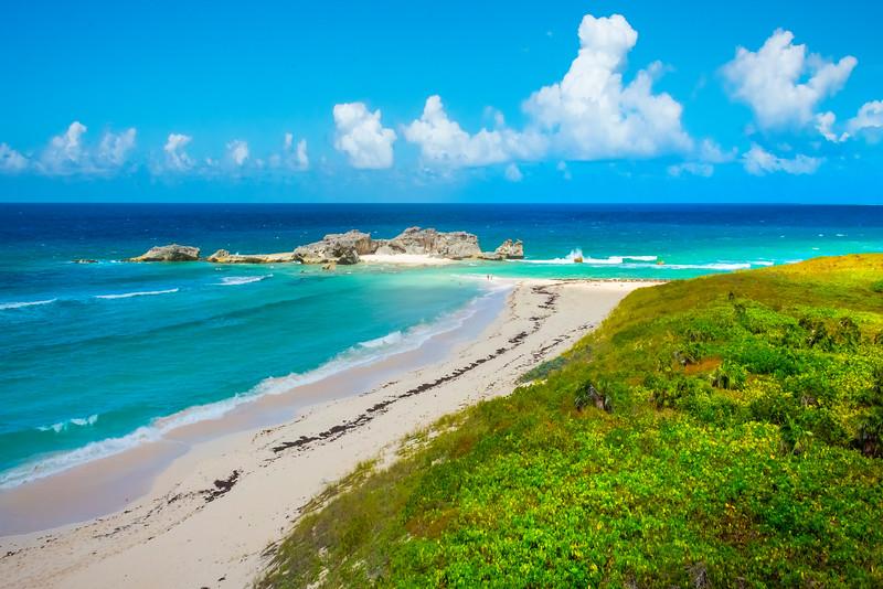 Overlooking The Beach At Mudjin Harbor - Mudjin Harbor, Middle Caicos, Turks & Caicos, Caribbean