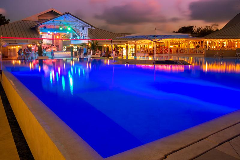 Club Med Pool At Night