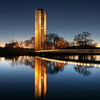 Carillon, Winter evening in Canberra