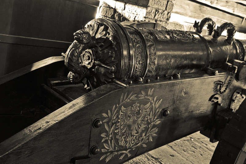 A Canon from Bastion the Castle of Haut-Koenigsbourg