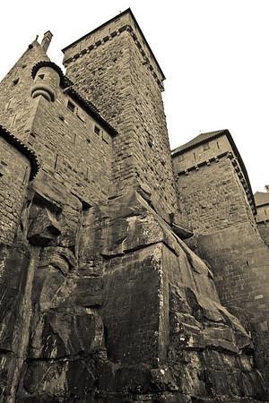 The Back of the Castle - Castle of Haut-Koenigsbourg