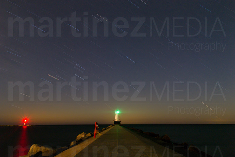 North Breakwater Lighthouse under the stars