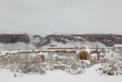 Cold, Snowy Morning In Terlingua