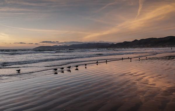 Pismo Beach, CA at sunset