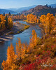 "Methow River<br /> Near Wintrop, Washington<br /> October 19, 2018, 3 hrs after sunrise<br /> <br /> We took a drive to Seattle this fall to enjoy the city as well as do a little wine tasting nearby.  <br /> Of course the main reason for the trip was to photograph.  So after 3 days in the city, we headed out into the countryside.<br /> <br /> And, yes, we planned to photograph Mt Rainier, but it didn't work out.  The fall colors appear to change 2-3 weeks earlier at the higher elevations; we missed the show by quite a bit so we moved on. <br /> <br /> After driving across the Cascades on Hwy 20, we settled in for a couple of nights in rustic Wintrop before heading south to Wanatchee.  There were plenty of colorful cottonwoods and aspens in the area.  We also wanted to photograph in the mountains along Hwy 20 nearby.<br /> <br /> Wintrop looks like a very old town with storefronts from the 1890s, wooden sidewalks and all!   It's really just one of the small towns in Washington's Methow Valley, but likely, the most distinctive.  Hotels are older (1950s era) but appear well maintained and clean.  For more on Winthrop see: <a href=""https://en.wikipedia.org/wiki/Winthrop"">https://en.wikipedia.org/wiki/Winthrop</a>,_Washington for a link to it's Wikipedia page.  We enjoyed our stay there, it was like going back in time for a couple of days.<br /> <br /> Kinda hard to believe that this is Washington - the evergreen state.  Of course one would expect more greenery (what's that thing the kids say, ""I know, Right!"") but this is on the far side, east side, of the Cascades.  Much less rainfall in this area than the West side of the mountains.<br /> <br /> This view was seen south of Wintrop along the Methow River from an elevated back road.  As you follow the river into the scene, you can almost sense the path of the river through the mountains in the distance.<br /> <br /> As we drove along this back road looking for a good shot of the valley, this view along the river presented itself.  Caught off guard, Casse took an open mouth breath as she took in the view.  <br /> <br /> A polarizer was used here."