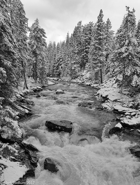 Icicle River Winter 3BW 11-2017