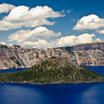 Clouds over the Island in Crater Lake, Oregon. DSC_6441