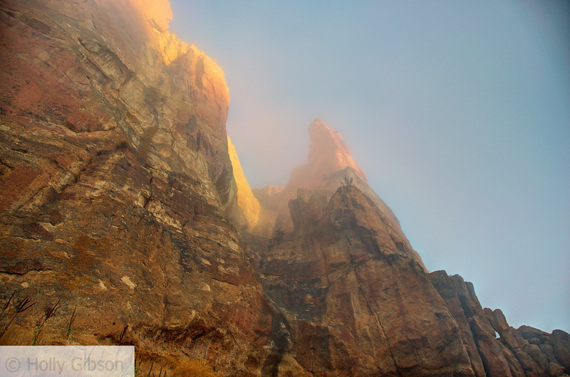 Fog enveloping Smith Rock at sunrise - 63