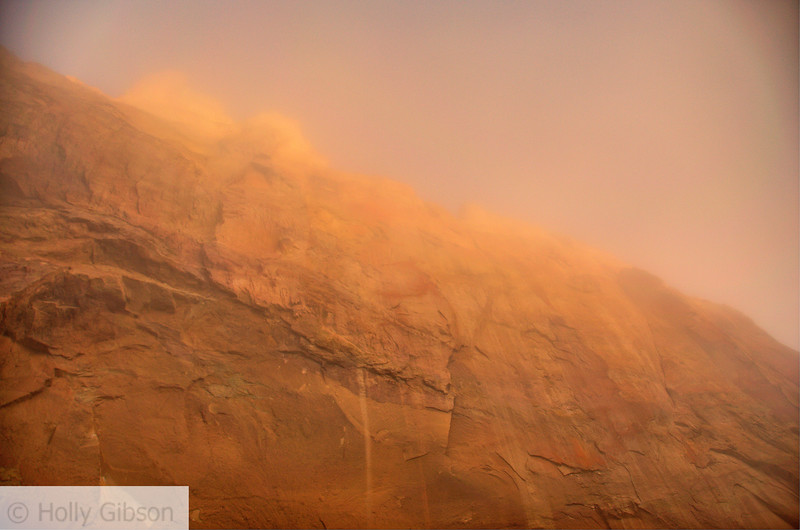 Smith Rock in fog - 58