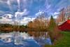 Pennsylvania, Farmland, Pond, Mill, Fall Colors, Reflection, HDR, Landscape, 宾夕法尼亚 田园, 风景