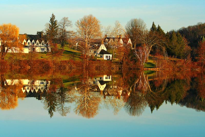 Pennsylvania, Shawnee State Park, Winter, 宾夕法尼亚 田园, 风景