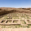 Ruins of the kiva at Pueblo Bonito in Chaco Canyon National Historic Park.