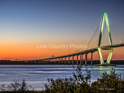 Ravenel Bridge on a Winter Evening