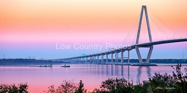 Early morning by the Ravenel Bridge
