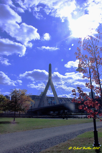 a fall day in Paul Revere Park