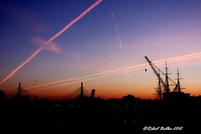 Sunset over Boston, 09/13/12