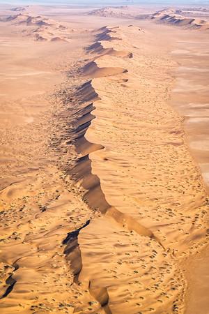 The endless dunes of the Skeleton Coast
