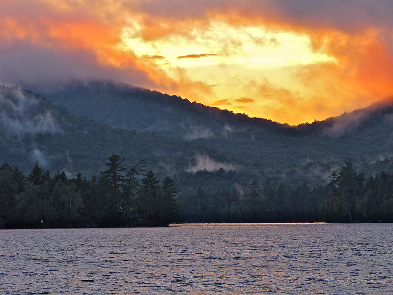 Blue Mountain Lake sunset, Adirondack's NY