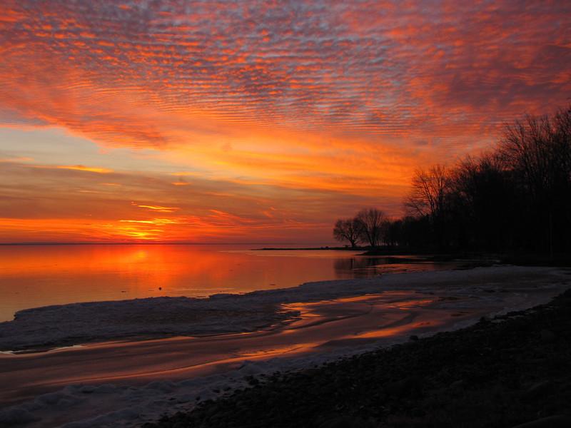 North Shore Oneida Lake Sunset.
