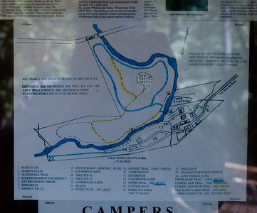 Trail map of Chau Ram County Park