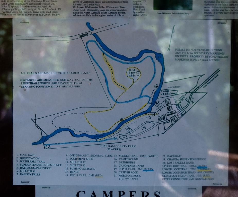 Trail map of Chau Ram County Park