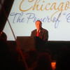"Yes, it's who it looks like - Richard Daley speaking at some dinner in the park.  I was being told to move away from the tent just as I snapped the photo so it's a little out of focus but still recognizable. I don't know what the Power of ""O"" is all about."